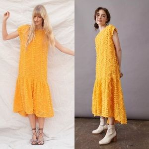 Anthropologie Blythe textured maxi dress